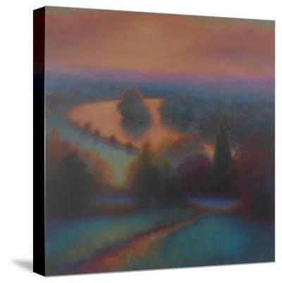 Petersham Autumn; View from Richmond Hill,-Lee Campbell-Stretched Canvas Print