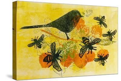 Birds and bees-Sarah Thompson-Engels-Stretched Canvas Print