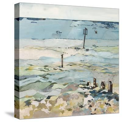 Southwold Sea View from Chris and Judy's Beach Hut-Christine McKechnie-Stretched Canvas Print