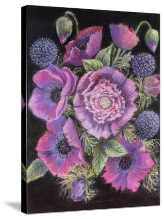 Anemones and thistles, 1998--Stretched Canvas Print