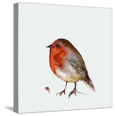 Fat Robin, 2017-Nancy Moniz Charalambous-Stretched Canvas Print