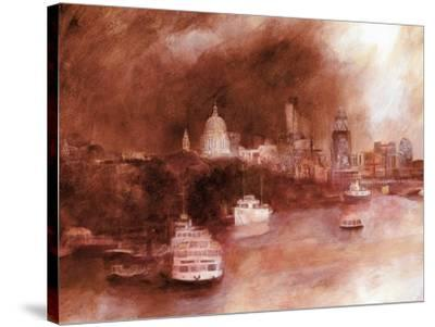 St. Pauls Red, 2007-Clive Metcalfe-Stretched Canvas Print