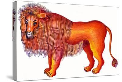 Leo the Lion, 1996-Jane Tattersfield-Stretched Canvas Print