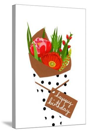 Birthday bouquet, 2014-Isobel Barber-Stretched Canvas Print