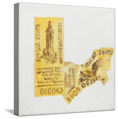 Old ticket of Empire State Builidng, 1 ticked torn up-Jennifer Abbott-Stretched Canvas Print