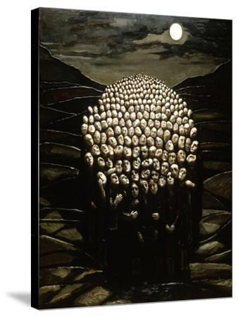 Waiting for the Day, 1979-Evelyn Williams-Stretched Canvas Print