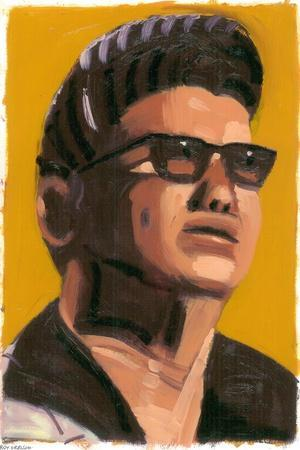 Roy Orbison, 2008-Sara Hayward-Stretched Canvas Print