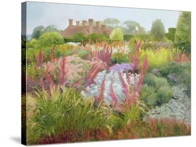 Spires of Kniphofia and Great Dixter-Timothy Easton-Stretched Canvas Print