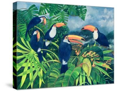 Toucan Talk-Lisa Graa Jensen-Stretched Canvas Print