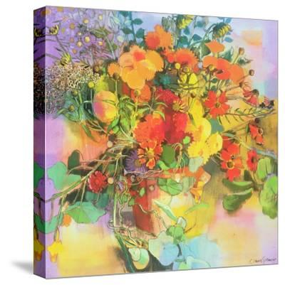 Autumn Flowers-Claire Spencer-Stretched Canvas Print