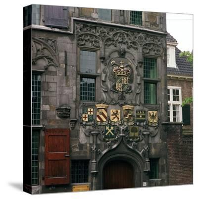 The Old Town Hall in Delft, 17th century.  Artist: CM Dixon Artist: Unknown-CM Dixon-Stretched Canvas Print