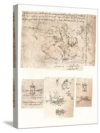 Four drawings of allegorical representations, c1472-c1519 (1883)-Leonardo da Vinci-Stretched Canvas Print