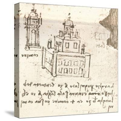 Drawing of projects for castles and villas, c1472-c1519 (1883)-Leonardo da Vinci-Stretched Canvas Print