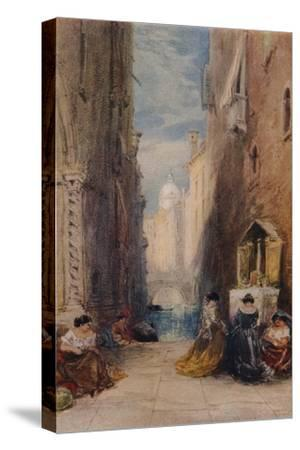 A Shrine In Venice, c1820-1870, (1924)-James Holland-Stretched Canvas Print