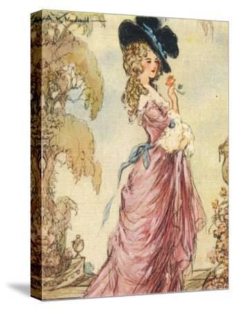 Georgiana, Duchess of Devonshire, 1937-Alexander K MacDonald-Stretched Canvas Print