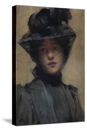 'The Black Veil', c19th century-Samuel Melton Fisher-Stretched Canvas Print