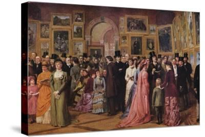 'Private View at the Royal Academy, 1881', 1883 (1935)-William Powell Frith-Stretched Canvas Print
