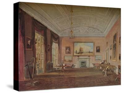 'Drawing Room, Farnley', 1818-JMW Turner-Stretched Canvas Print