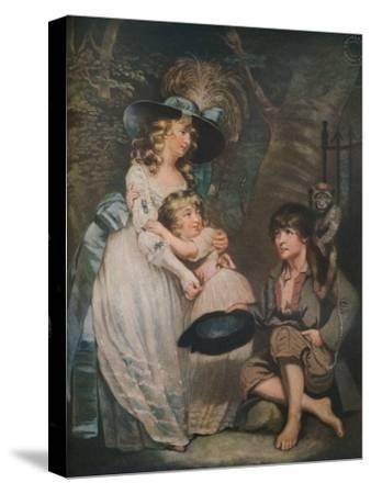 A Young Lady Encouraging the Low Comedian, c1786-1826, (1919)-William Ward-Stretched Canvas Print