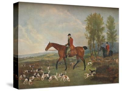 'His Majesty's Harriers', c19th century-Richard Woodman-Stretched Canvas Print