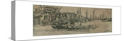 'Thames Warehouses', 1859-James Abbott McNeill Whistler-Stretched Canvas Print