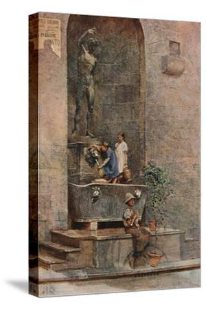 'The Fountain', c1904-Herbert Alexander Collins-Stretched Canvas Print