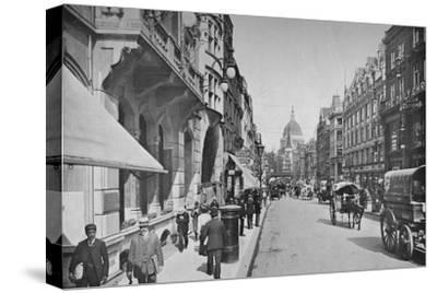 Fleet Street, City of London, c1900 (1911)-Pictorial Agency-Stretched Canvas Print