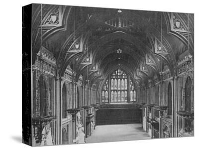 Interior of the Guildhall, City of London, c1904 (1906)-Photochrom Co Ltd of London-Stretched Canvas Print