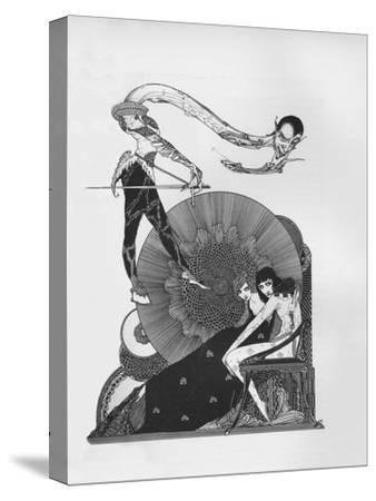'Half-Title of Goethe's Faust', 1925-Harry Clarke-Stretched Canvas Print
