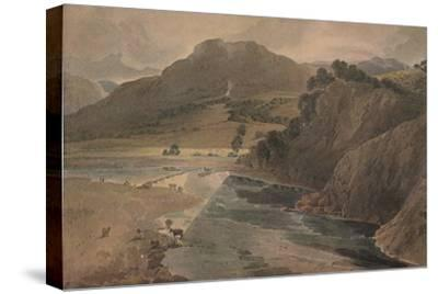 'The stepping stones on the Wharfe, above Bolton Abbey, Yorkshire', 1801-Thomas Girtin-Stretched Canvas Print