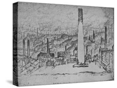 'The Great Stack, Bradford', 1909-Joseph Pennell-Stretched Canvas Print