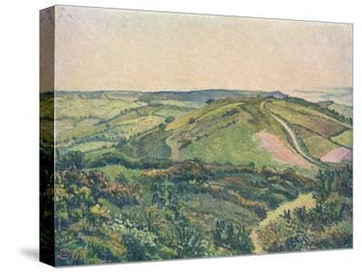 'View from the Hill, Fishpond', c1913-Lucien Pissaro-Stretched Canvas Print