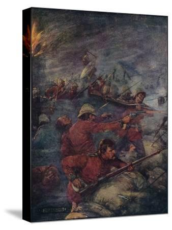 'Thus Did A Hundred Men Keep Three Thousand Savages At Bay', c1908, (c1920)-Joseph Ratcliffe Skelton-Stretched Canvas Print
