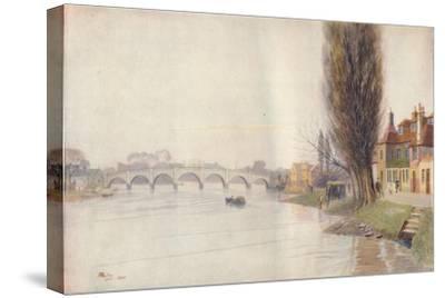 'Old Kew Bridge', 1899, (1914)-James S Ogilvy-Stretched Canvas Print