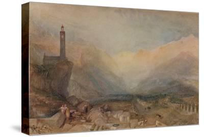 The Splugen Pass', c1841, (1938)-JMW Turner-Stretched Canvas Print