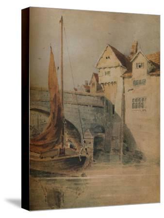'Fye Bridge, Norwich', c1835, (1938)-John Thirtle-Stretched Canvas Print