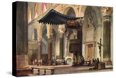 'Interior of Cathedral, San Remo', c1870-Alfred Waterhouse-Stretched Canvas Print