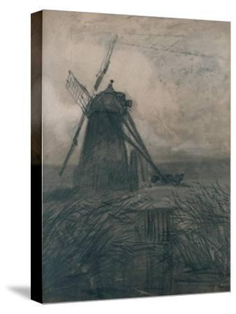 'A Marsh Mill', c1840-Thomas Lound-Stretched Canvas Print