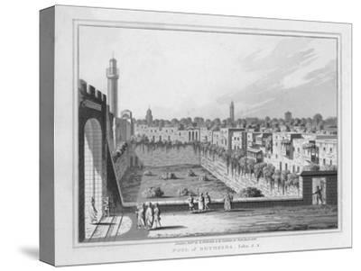 'Pool of Bethesda. John. 5. 2.', 1830-J Clarke-Stretched Canvas Print