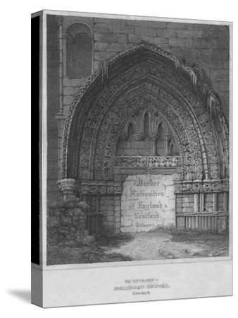 'West Entrance to Holyrood Chapel, Edinburgh', 1814-John Greig-Stretched Canvas Print