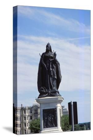 Queen Victoria Statue, Hove, Sussex, 20th century-CM Dixon-Stretched Canvas Print