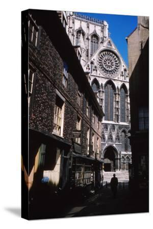The Shambles and York Minister, York, 1958-CM Dixon-Stretched Canvas Print