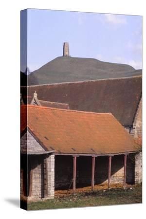 Glastonbury Tor and Ancient Tithe Barn, Somerset, 20th century-CM Dixon-Stretched Canvas Print