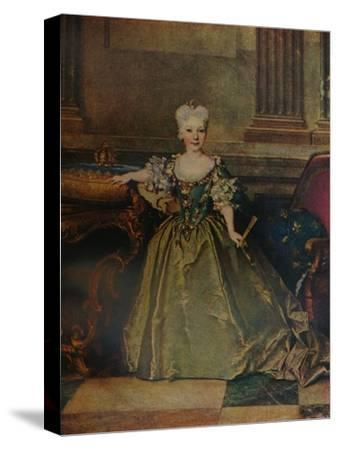 'Maria Ana Victoria de Borbon y Farnesio', 1724 (c1927)-Nicolas de Largilliere-Stretched Canvas Print
