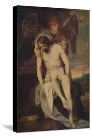 'Cristo Llorado Por Un Angel', (Dead Christ she Supported by an Angel)', 1646-1652, (c1934)-Alonso Cano-Stretched Canvas Print