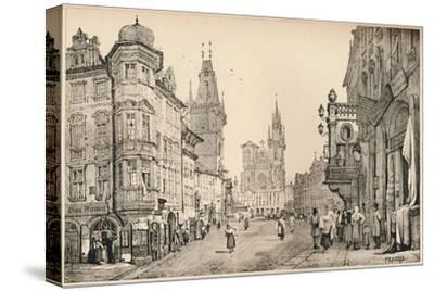'Prague', c1820 (1915)-Samuel Prout-Stretched Canvas Print