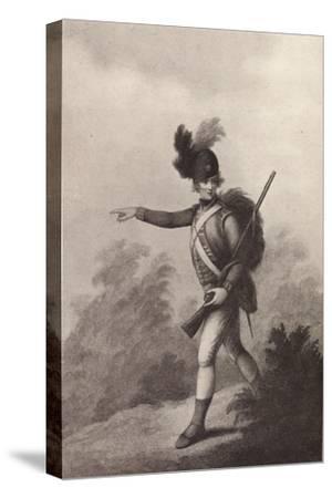 'Light Infantry Man (1791)', 1791 (1909)-Francois David Soiron-Stretched Canvas Print