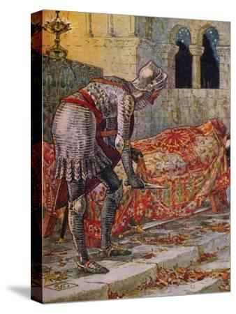 'Sir Lancelot in the Chapel Perilous', 1911-Walter Crane-Stretched Canvas Print
