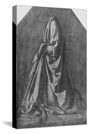 'Cast of Drapery for a Figure Kneeling to the Left', c1475 (1945)-Leonardo da Vinci-Stretched Canvas Print