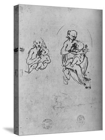 'Three Studies of a Madonna and Child', c1475 (1945)-Leonardo da Vinci-Stretched Canvas Print